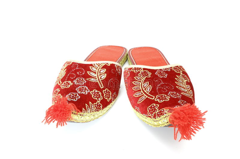 Turkish Shoes Over White Stock Image