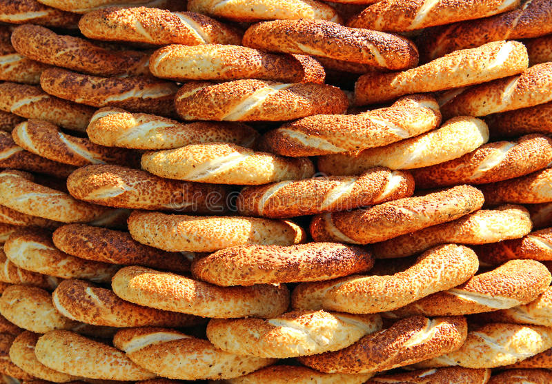 Download Turkish simit stock photo. Image of sesame, baked, crunchy - 24796146