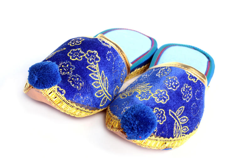 Download Turkish slippers stock image. Image of gold, blue, color - 17331653
