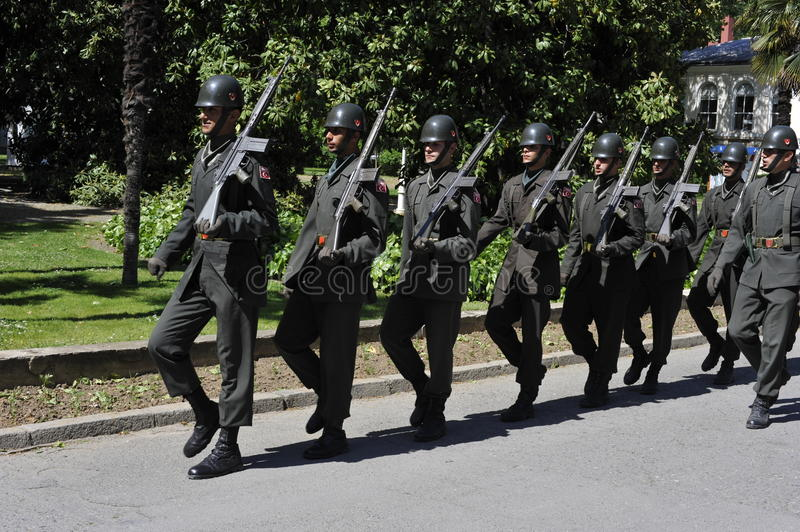 Download Turkish Soldiers Marching editorial photo. Image of group - 23470671