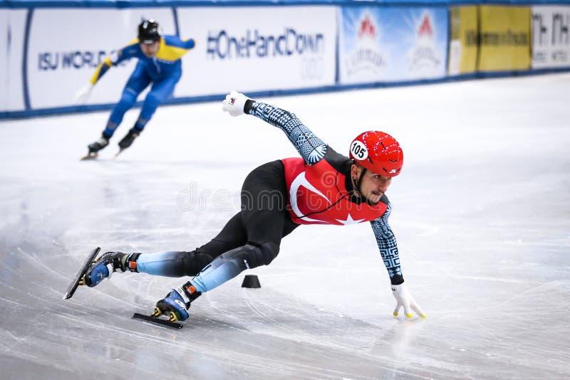 Turkish speed skater Davut Tahtaci royalty free stock photography