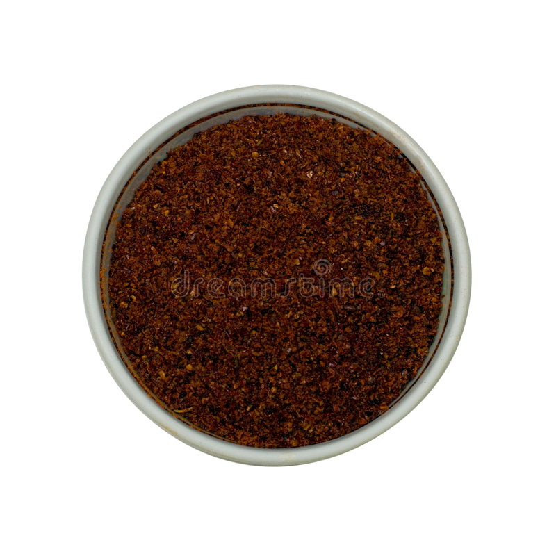 Turkish Spice Mix. From a set of 18 spices in the one style isolated on white royalty free stock images
