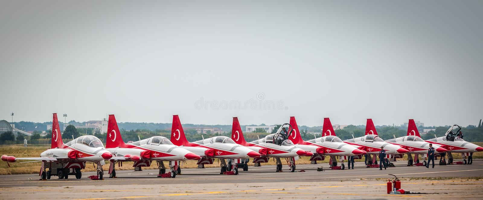 Turkish Star Airplains outline stock photography