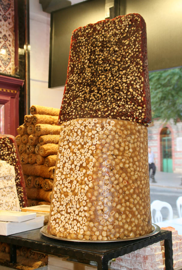 Download Turkish sweets stock photo. Image of turkish, nuts, orient - 25597288