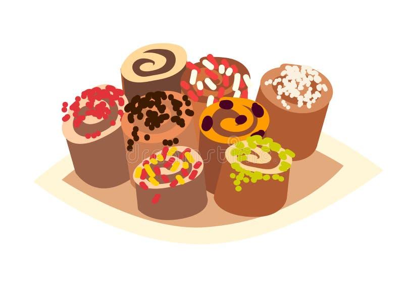 Turkish sweets vector icon, isolated on white background baklava stock illustration