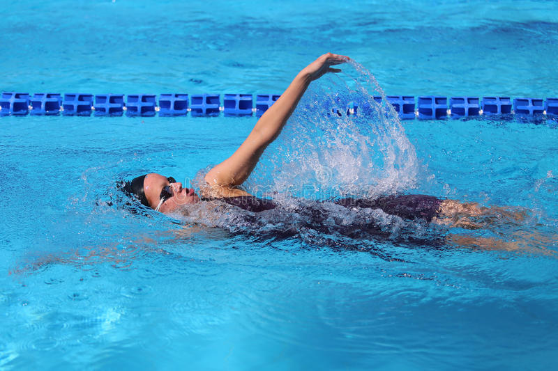Turkish Swimming Championship stock images