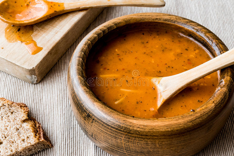 Turkish Tarhana or Ezogelin Soup. Home food concept royalty free stock images