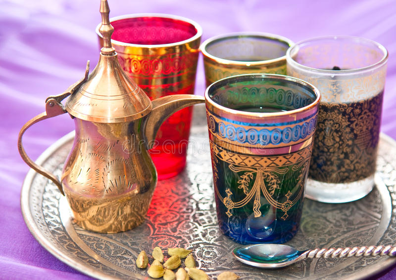 Download Turkish Tea stock photo. Image of tray, golden, spoon - 15757034