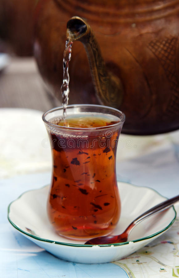 Download Turkish tea stock photo. Image of tabletop, teaspoon - 27873776