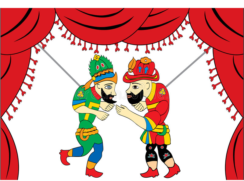 Turkish Theater for the two main characters. The two main characters, the traditional Turkish theater royalty free illustration
