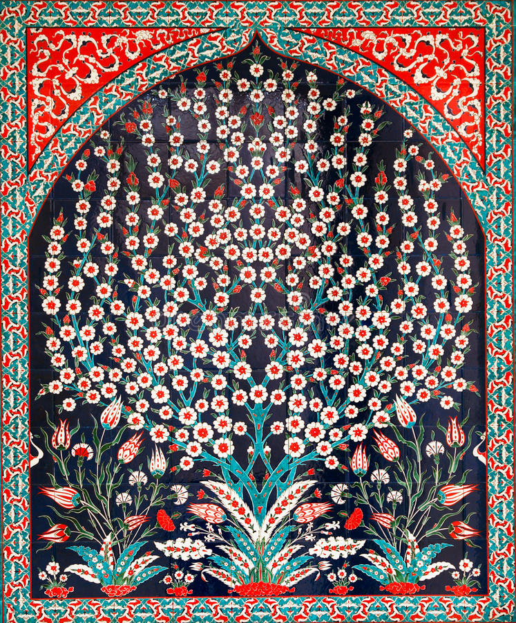 Download Turkish tiles stock image. Image of ceramics, blue, mosaic - 12774771
