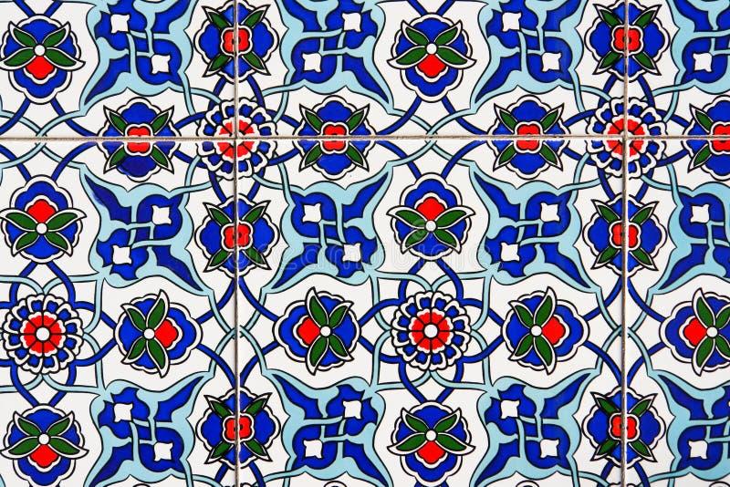 Turkish tiles stock photo