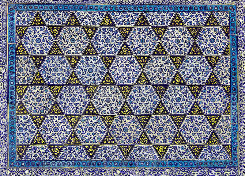 Turkish tiles royalty free stock images