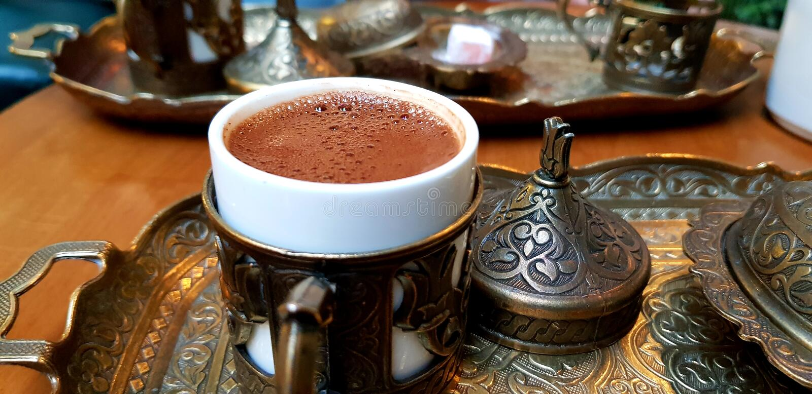 Turkish Traditional Coffee royalty free stock photo