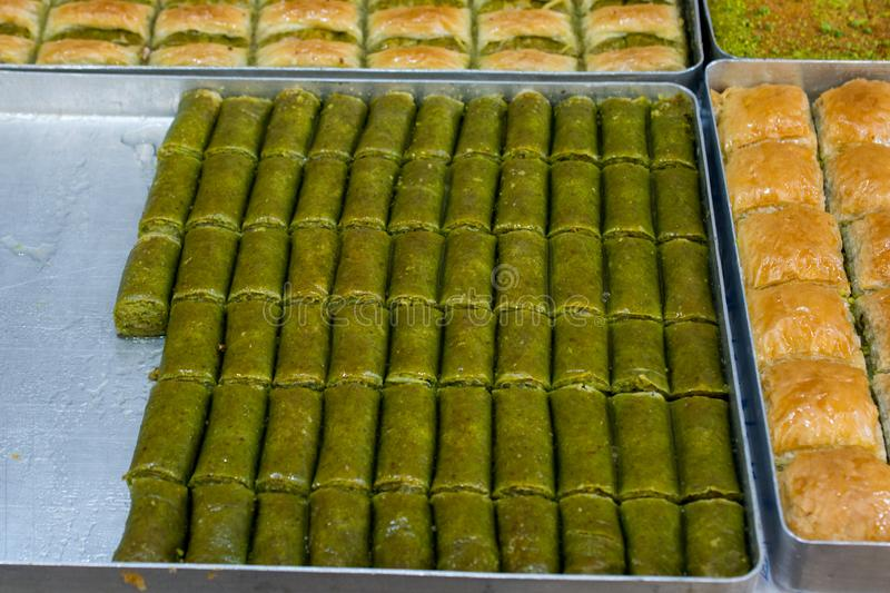 Turkish traditional national tasty desserts Baklava royalty free stock photo
