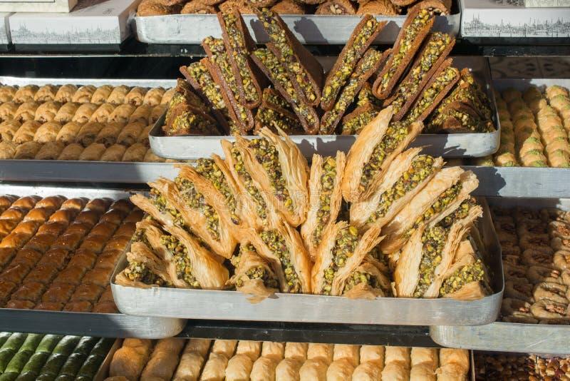 Turkish traditional national tasty desserts Baklava stock images