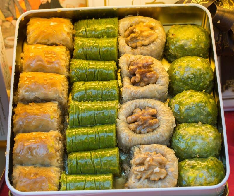 Turkish traditional national tasty desserts Baklava royalty free stock photography