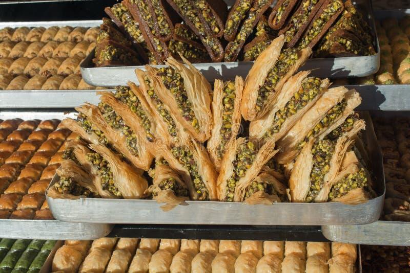 Turkish traditional national tasty desserts Baklava royalty free stock photo