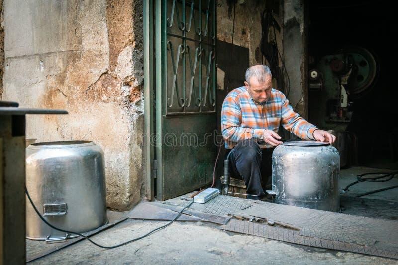 Turkish worker in Istanbul, Turkey royalty free stock photos