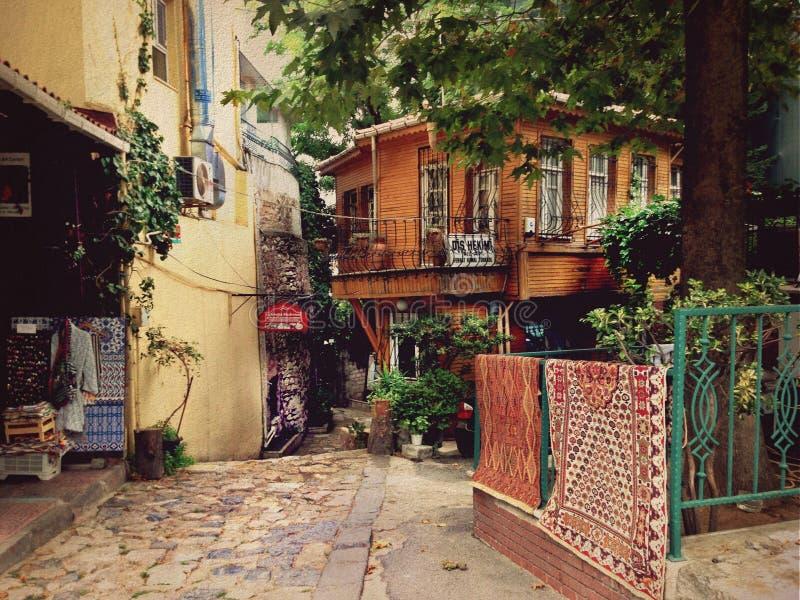 Turkish yard in Istanbul stock photo