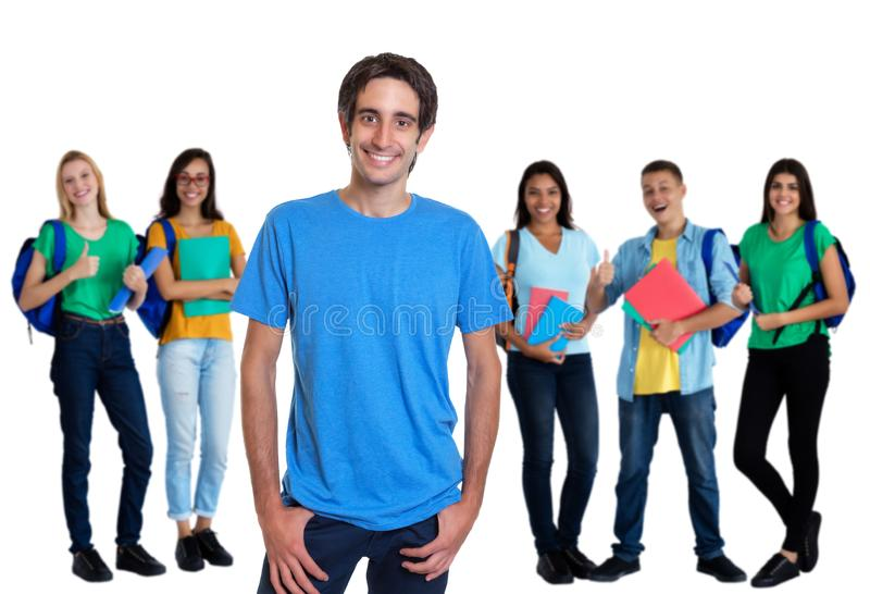 Turkish young adult man with other students royalty free stock photos