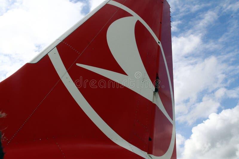 Turkisk flygbolag - PODGORICA, MONTENEGRO royaltyfri foto