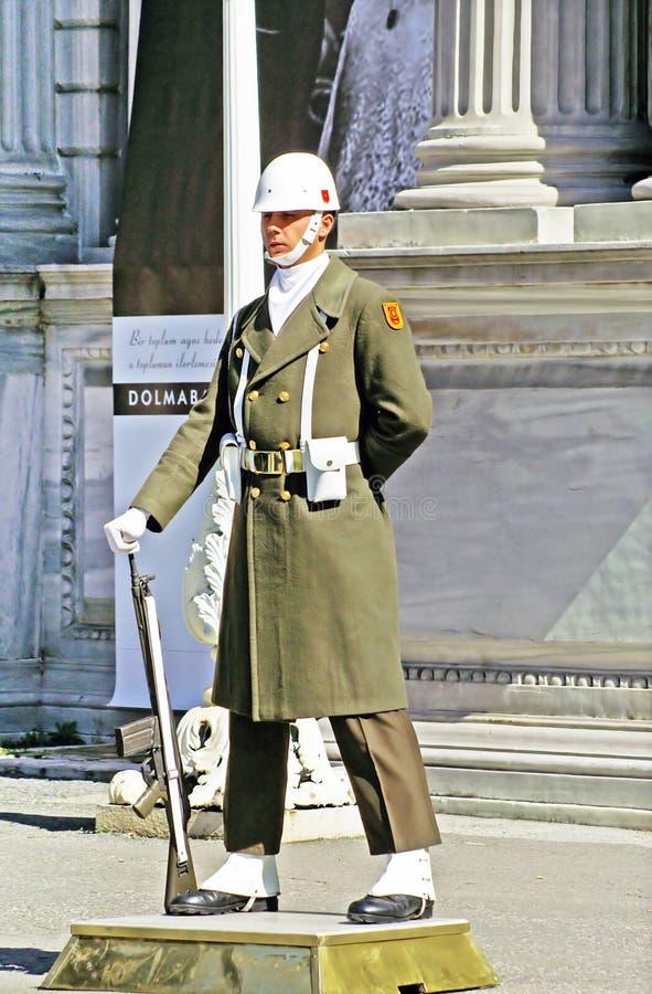 Turkisk guardman, Istanbul royaltyfri foto