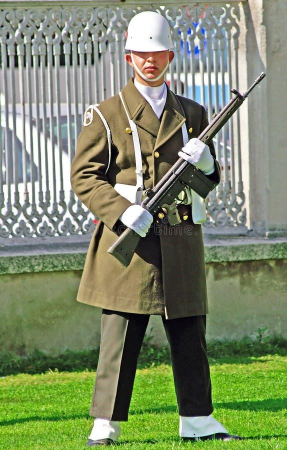 Turkisk guardman, Istanbul arkivfoton