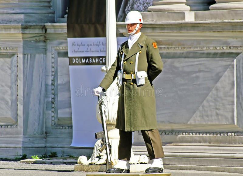 Turkisk guardman, Istanbul arkivbilder