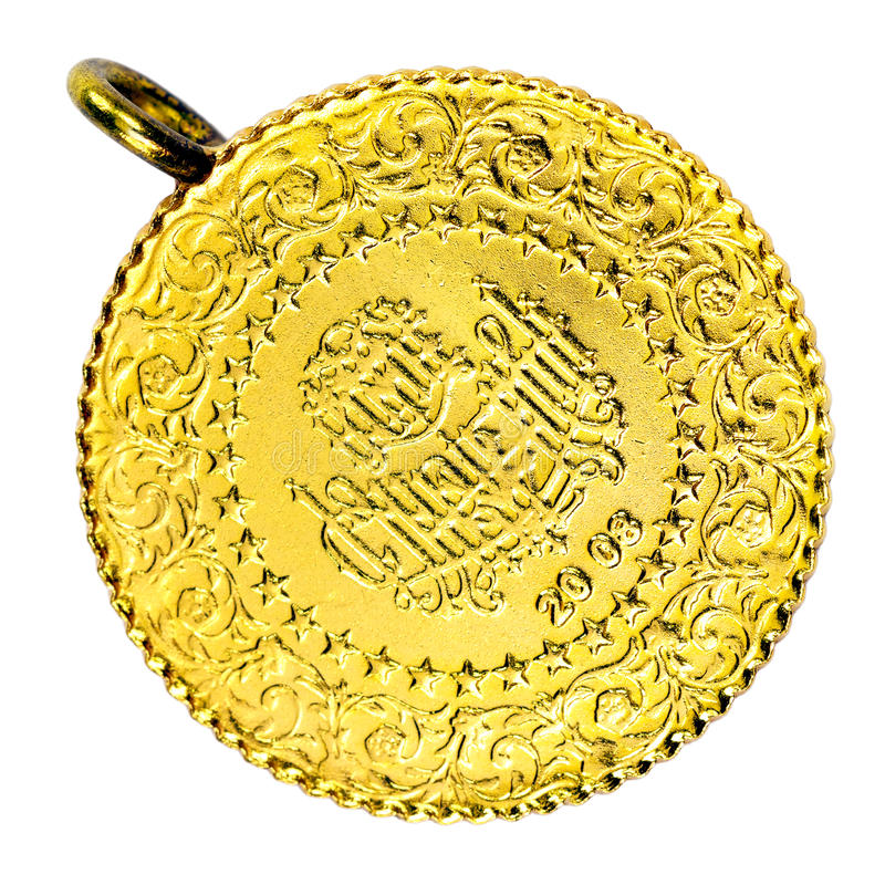 Turkisk halsband för guld- mynt royaltyfria bilder