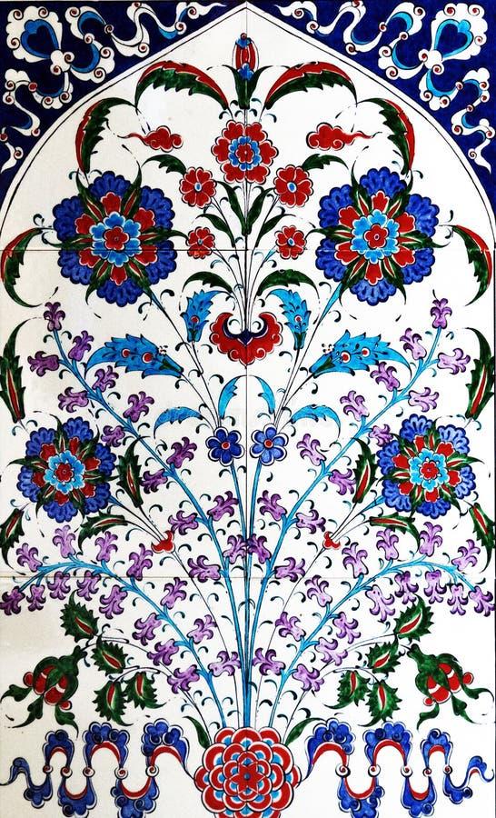 Turkisk islamisk stätta för keramiska tegelplattor arkivbilder