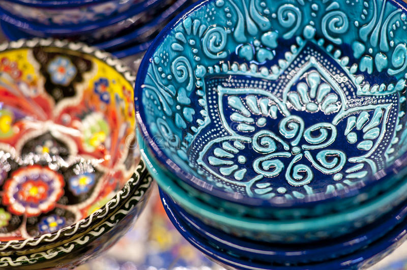 Turkisk keramisk konst royaltyfri foto