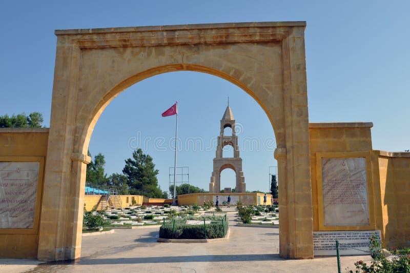 Turkisk krigkyrkogård, Gallipoli, Turkiet royaltyfria foton