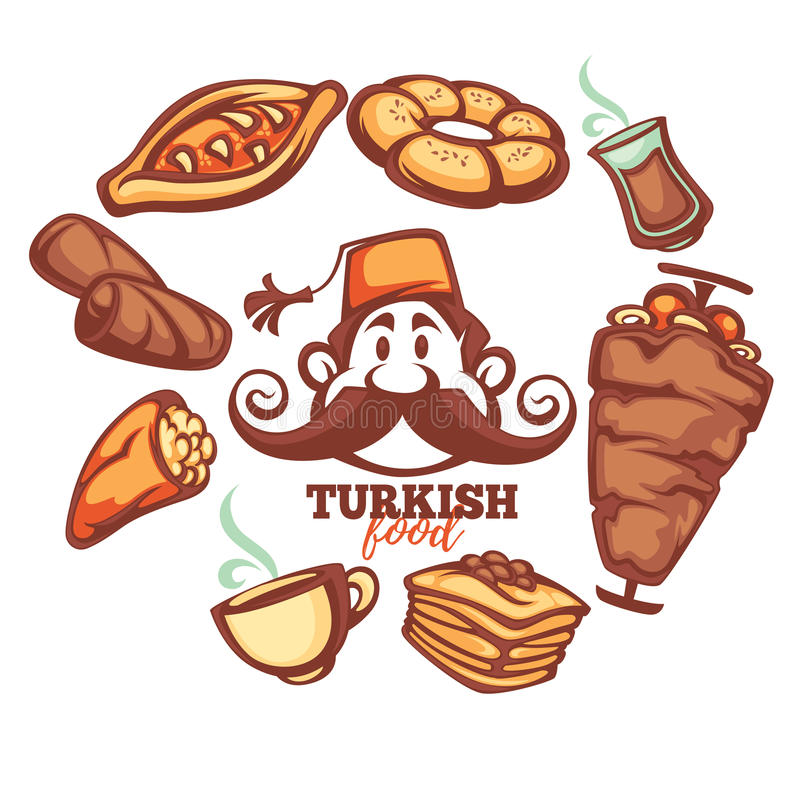 Turkisk mat royaltyfri illustrationer