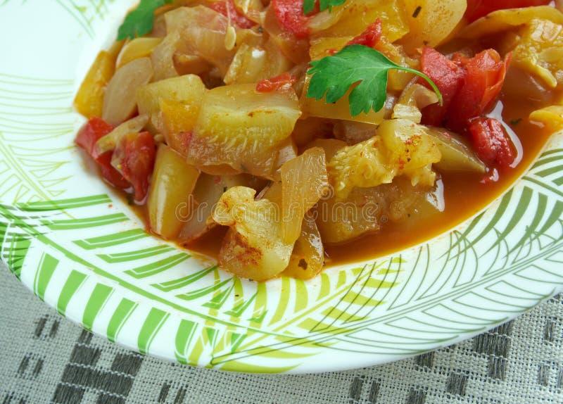 Turkisk maträtt av grönsaker royaltyfri foto