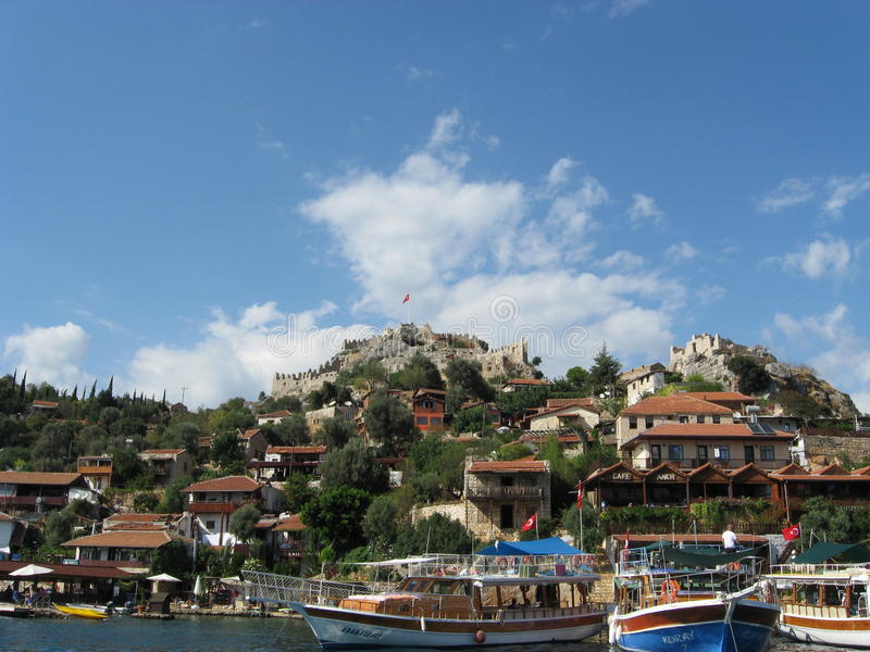 Turkisk semesterort royaltyfri fotografi