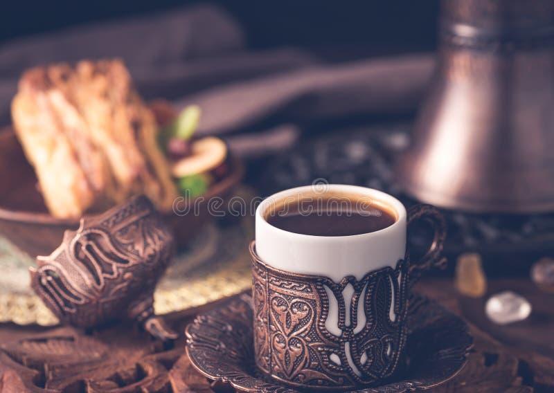 Turkisk stil för kaffe royaltyfri foto