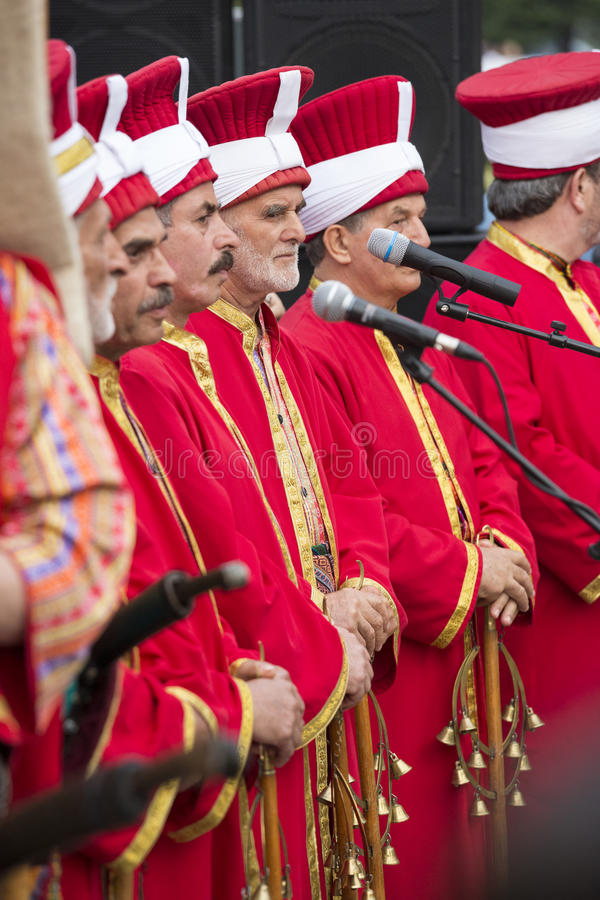 Turkisk traditionell militär fanfar arkivfoto