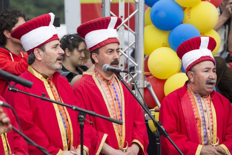 Turkisk traditionell militär fanfar royaltyfria foton