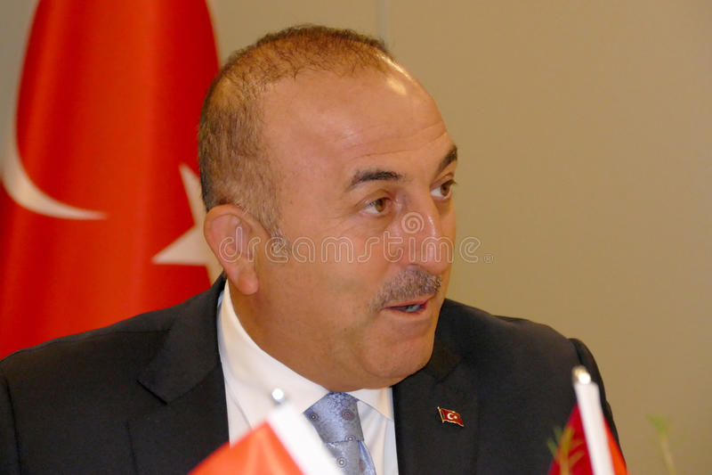 Turkisk utrikesminister Mevlut Cavusoglu royaltyfri bild