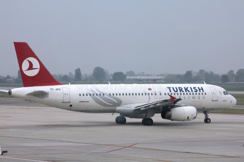 turkiska flygbolag royaltyfria foton