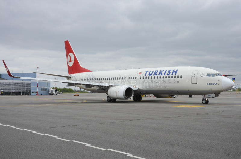 turkiska flygbolag fotografering för bildbyråer