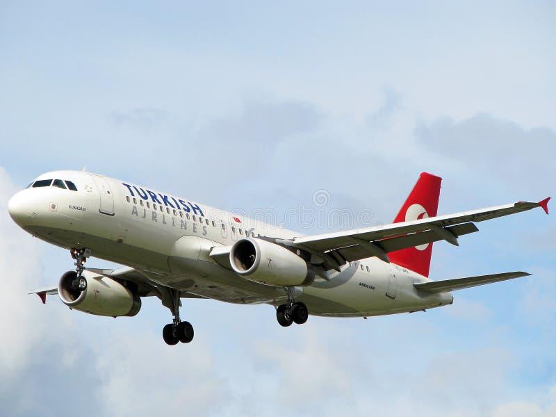 turkiska flygplanflygbolag royaltyfri foto