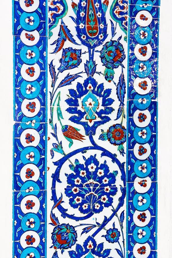 Turkiska keramiska tegelplattor, Istanbul fotografering för bildbyråer