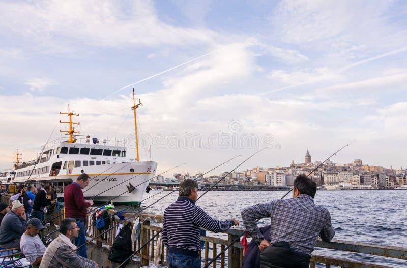 Turkiskt fiska för fiskare arkivbild