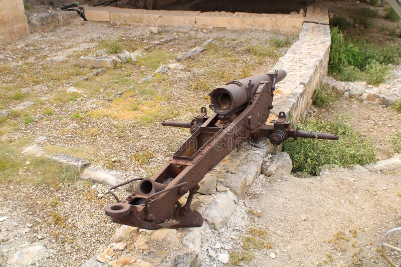 Turkiskt Gaziantep, 24 Juni, - 2019: Gaziantep slott arkivfoton