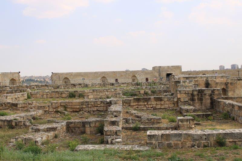 Turkiskt Gaziantep, 24 Juni, - 2019: Gaziantep slott royaltyfri bild