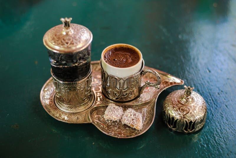 Turkiskt kaffe uppifrån royaltyfri foto