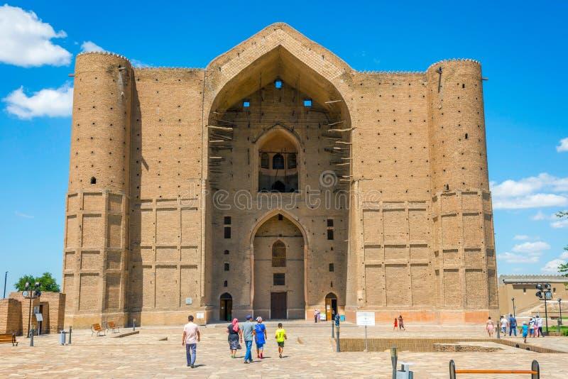 Turkistan陵墓,哈萨克斯坦 库存图片