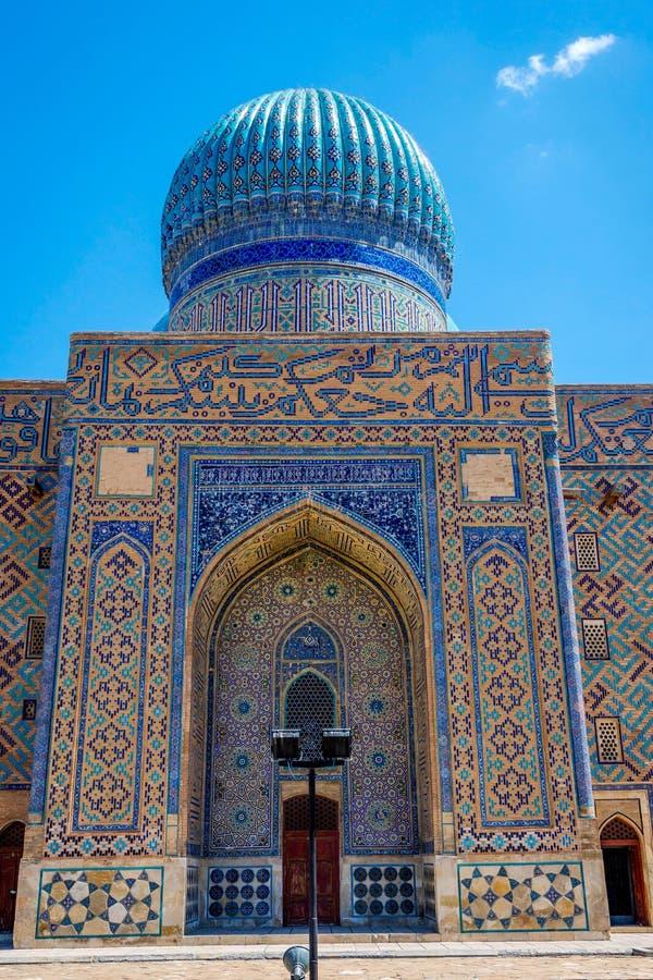 Turkistan陵墓,哈萨克斯坦 免版税库存图片